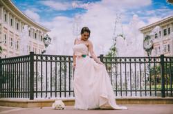 Bridal portraits in Texas