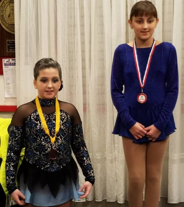 Grace Huffam receives 4th place in High Beginner Freeskate