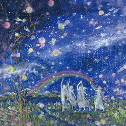 Giclee Print「虹の世界に咲く愛の花」