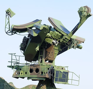 Camouflaged mobile military radar, can b