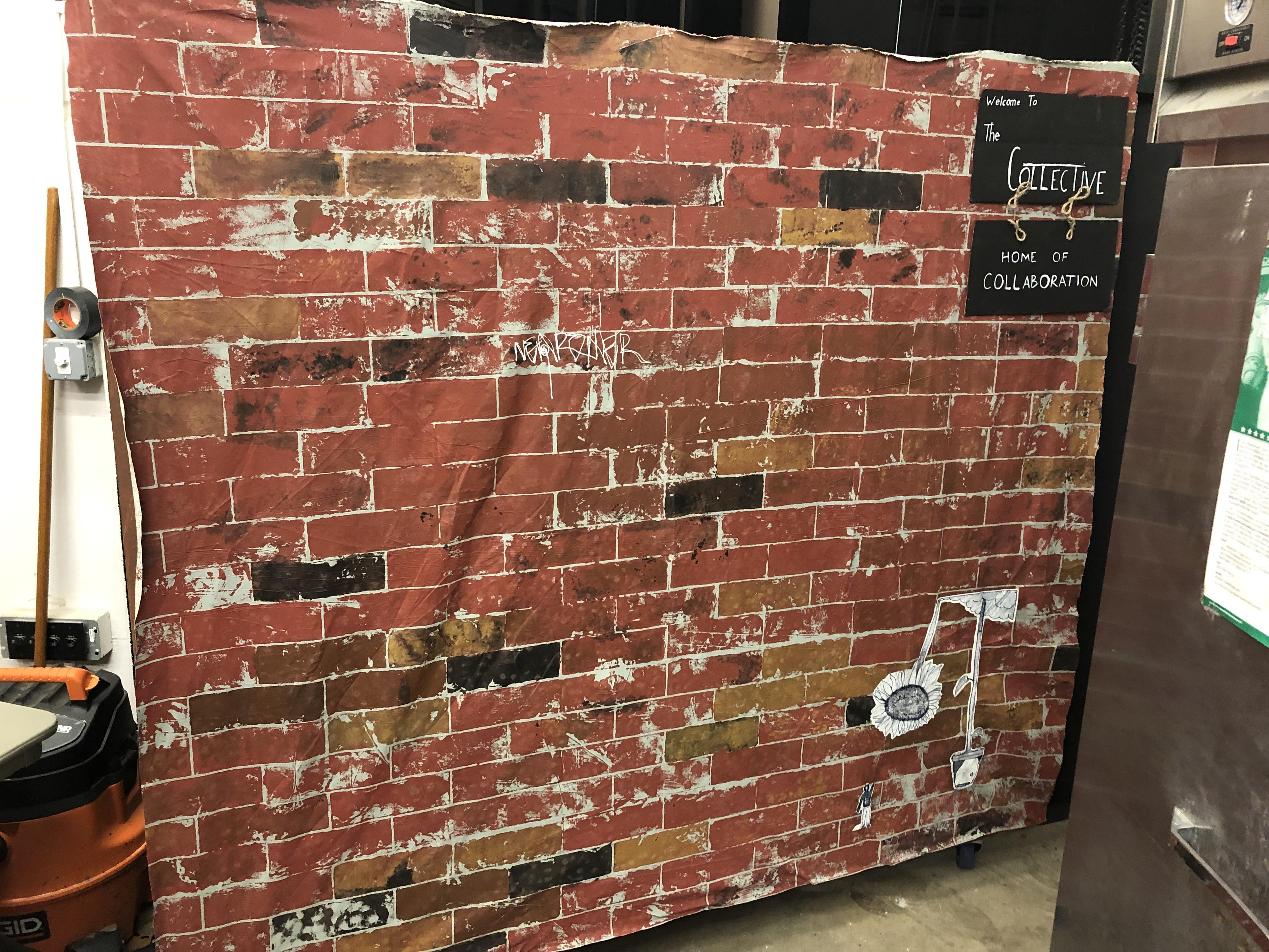 Muslin Brick Wall