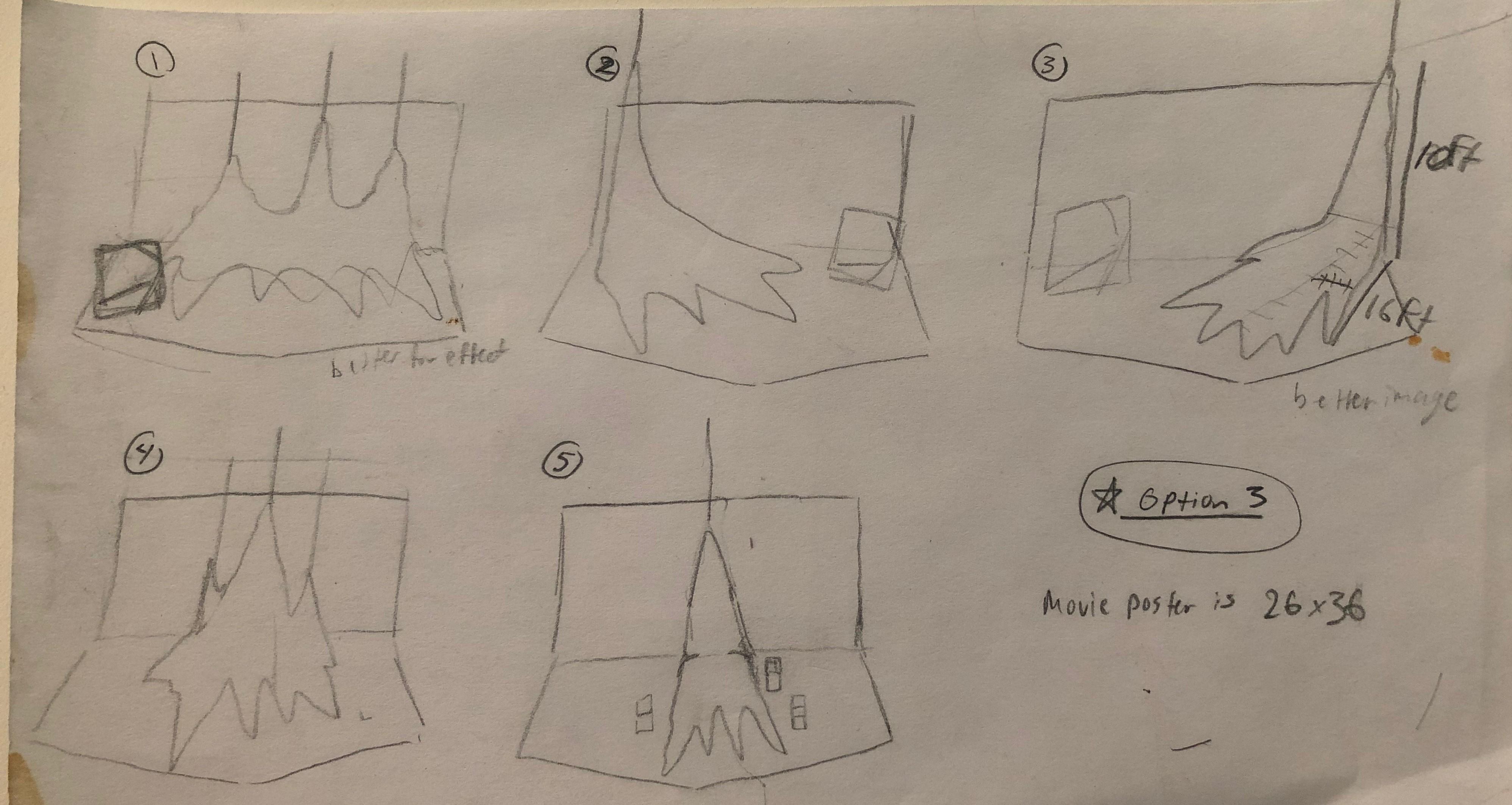 Conceptual Sketch of Large Stalagmite