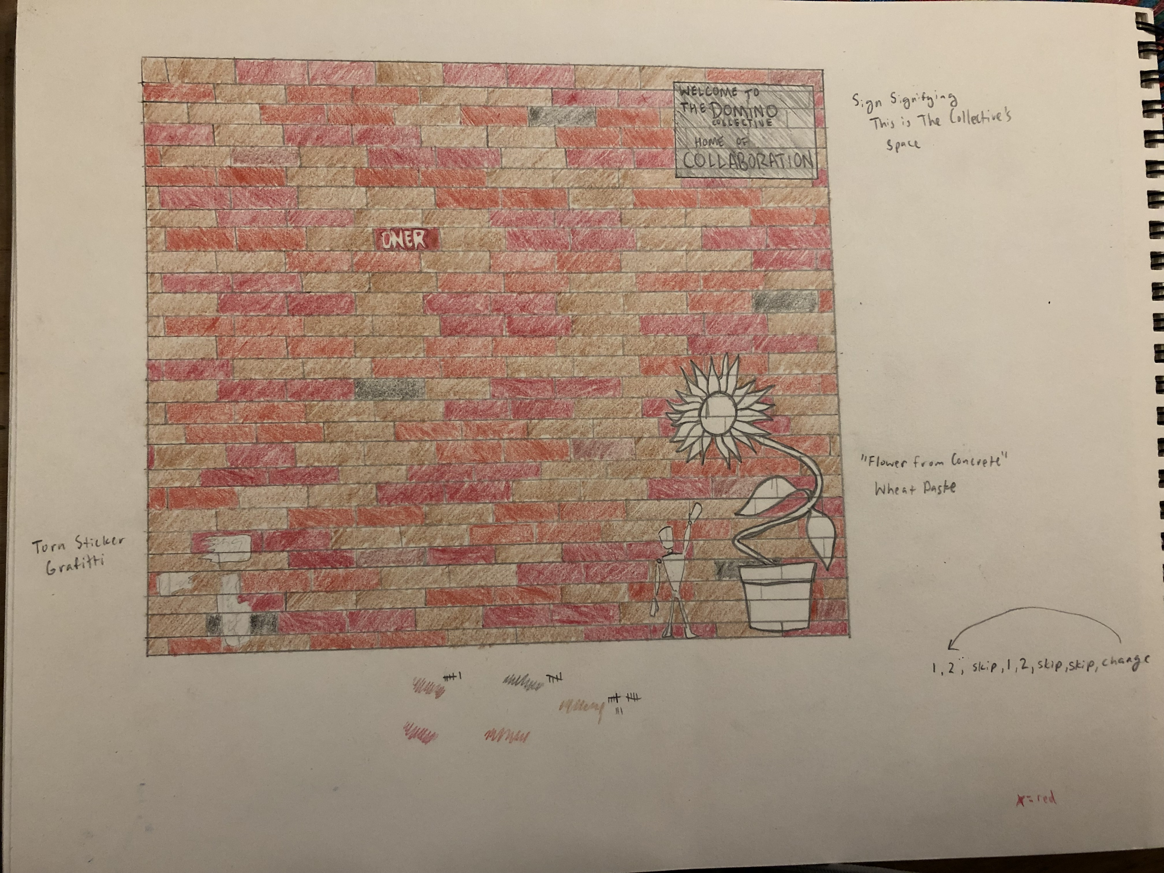 Muslin Wall Concept Sketch