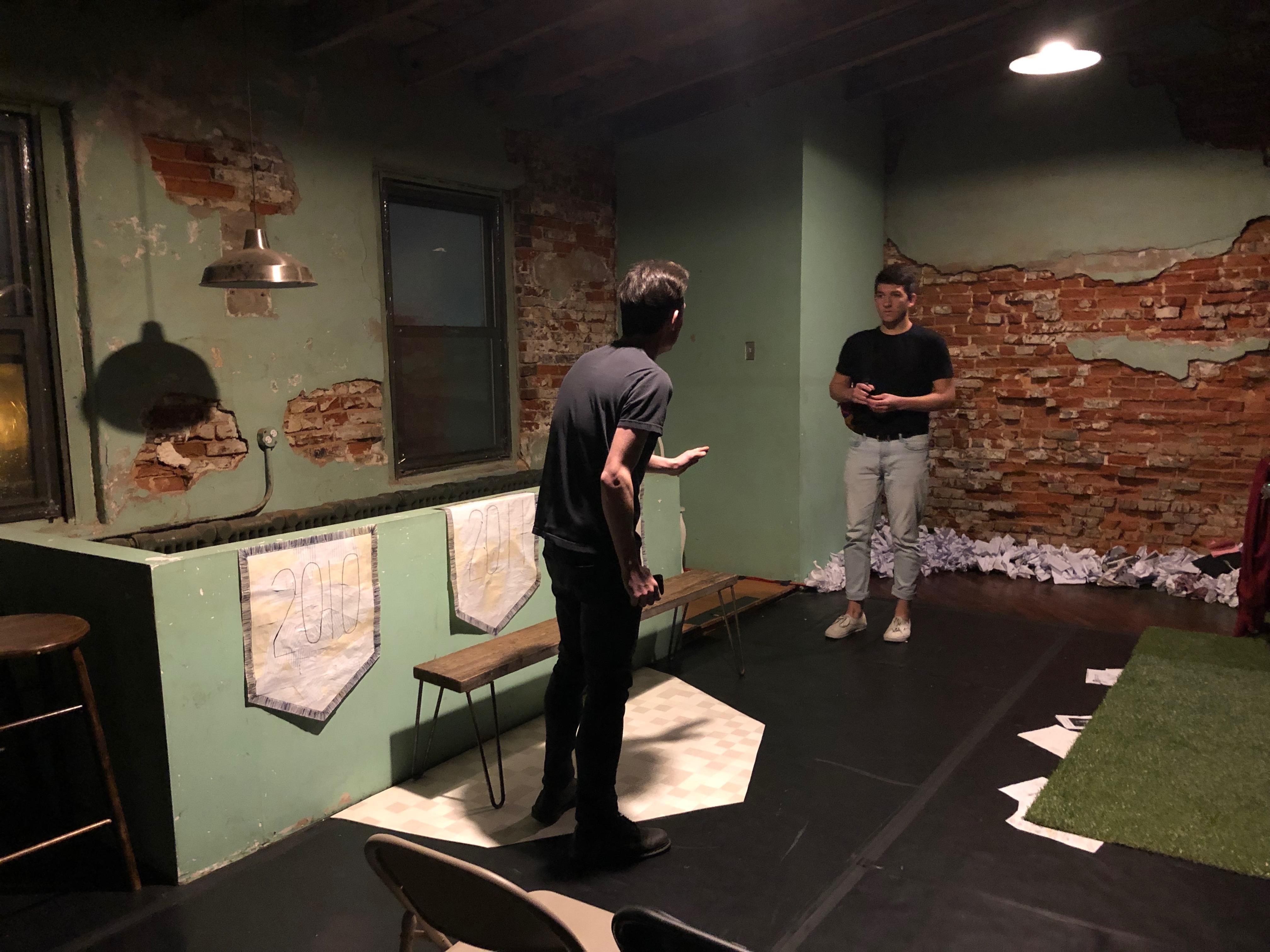 "Rehearsal of a ""Highschool"" Scene"