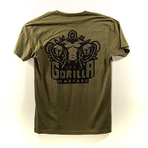 Military Green Gorilla Warfare T-shirt