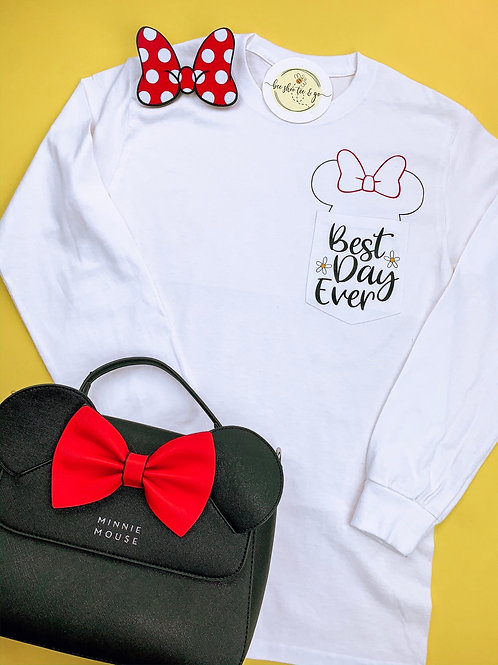 Minnie's Best Day Ever Pocket Long Sleeve