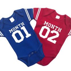 Monthly Football Onesies