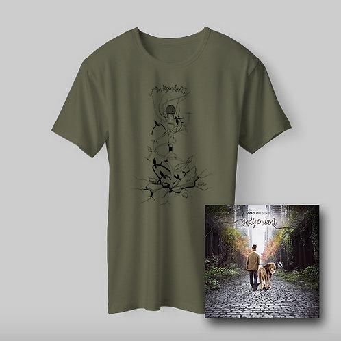 "Pack T-shirt homme Kaki ""Indépendant""."