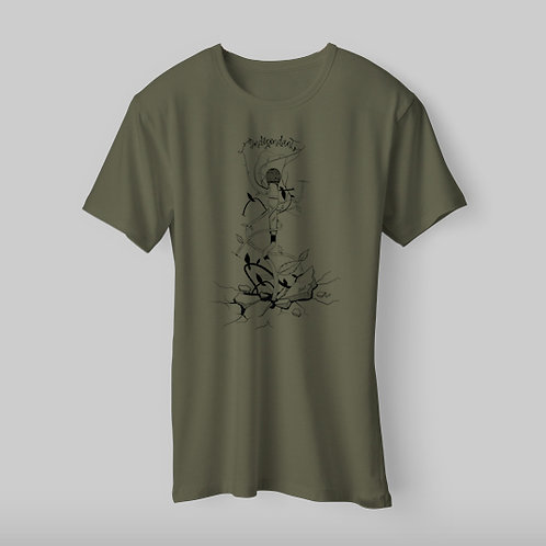 "T-shirt homme Kaki ""Indépendant""."