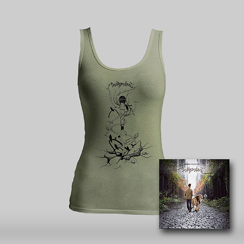 "Pack T-shirt femme Kaki + Album ""Indépendant""."
