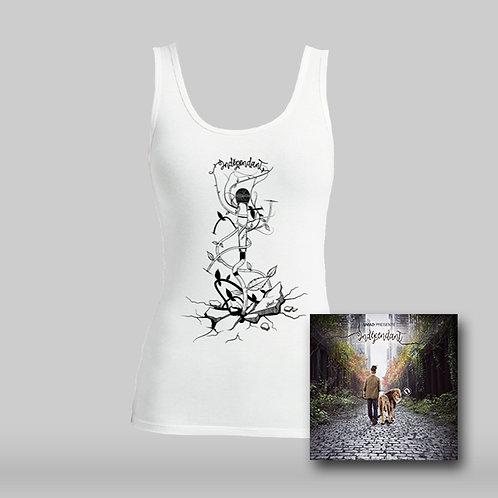 """Pack T-Shirt Femme Blanc """"Indépendant""""."""