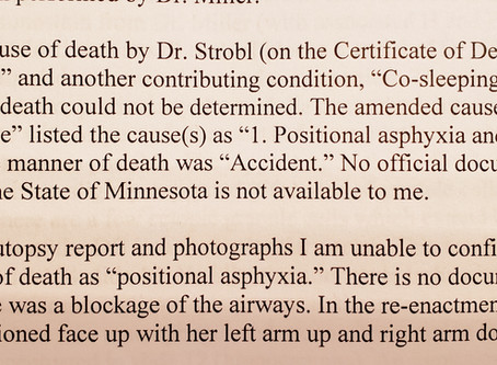 Negligence in Evee's Autopsy Confirmed in Report