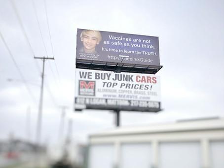 """JFE's """"Health Freedom Billboard Campaign"""""""
