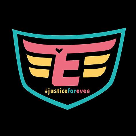 #justiceforevee Superhero Logo