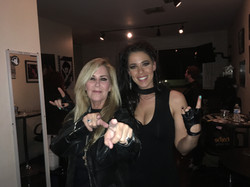 Lita Ford and Jes Fama