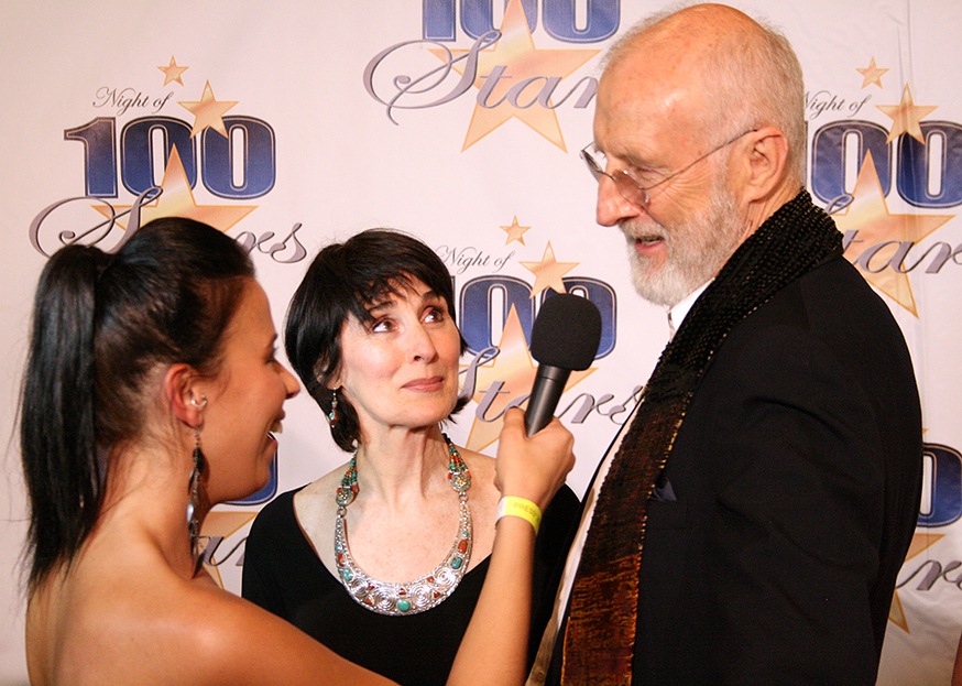 Jes Fama talking to James Cromwell