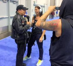 Jes interviewing Bill