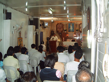 Holy Mass celebrated at the 1st Divine Mercy Chapel in the Philippines at Quezon City