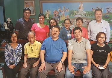 The Divine Mercy National Working Committee headed by Rev. Fr. Prospero Tenorio [Center] & Bro. Don de Castro