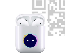 QR code with air pods