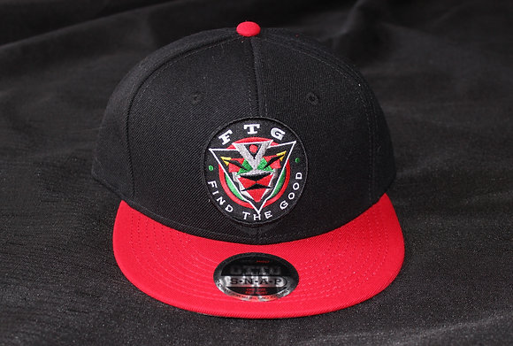 FTG Patch Logo Snapback Hat (Blk/Red)