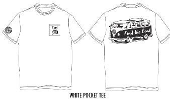 White T-shirt with logos