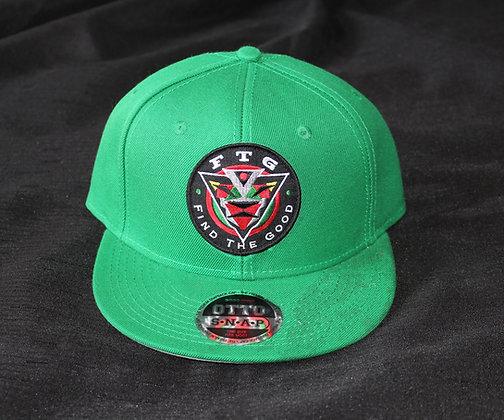 FTG Patch Logo Snapback Hat (Green)