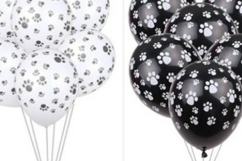 Paw Print Party Balloons (Pack of 5)
