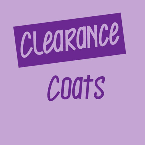 Clearance Coats - Various Designs and SIzes  (Click for Range)