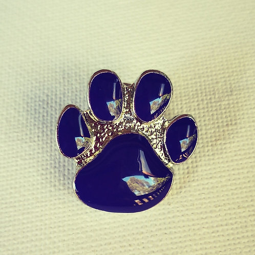 Paws Brooch - Purple Gold or Silver Colour