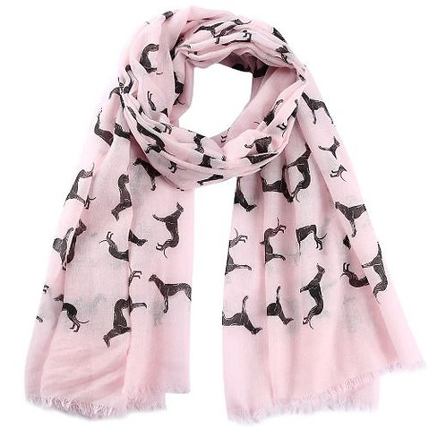 Greyhound Pattern Scarves (Click for Colour Range)