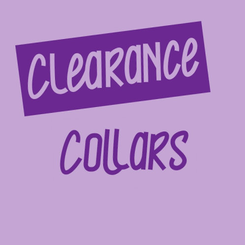 Clearance Collars and Leads (Click for Range)