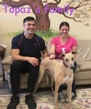 Topaz and her new family Philip & Leeann
