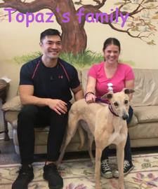 Topaz and her new family Philip & Leeann