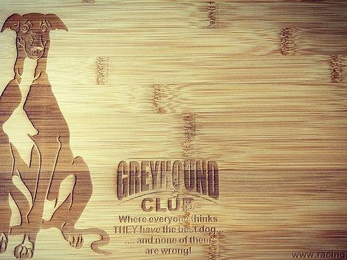 Greyhound Wooden Bread Board