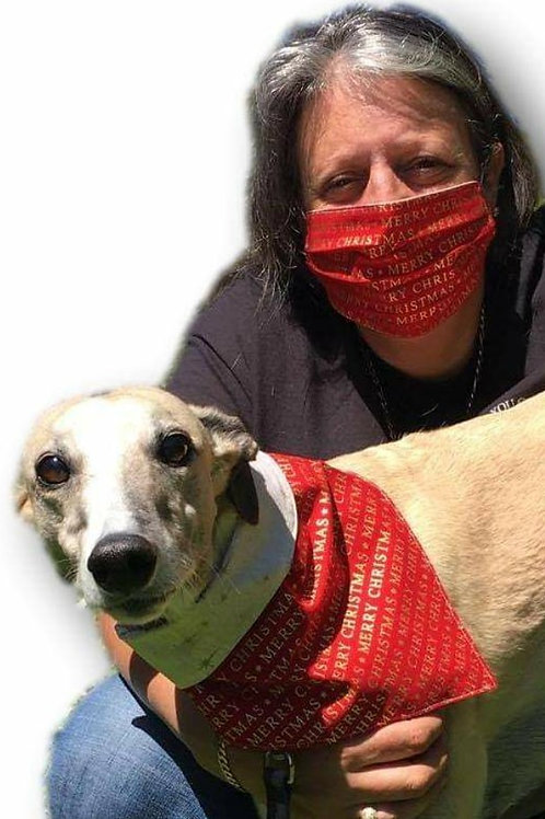 Face Mask with Matching Hound's Bandana (Click for Design Range)