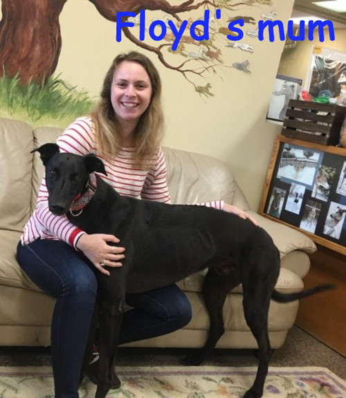 Floyd with his new mom, Susan