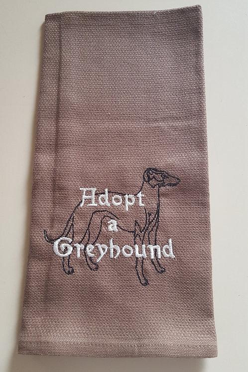 Adopt a Greyhound Tea towel