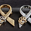 Thumbnail: Paws Brooch - Purple, Gold or Silver Colour