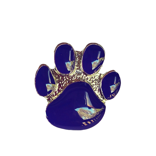 Paws Brooch - Purple, Gold or Silver Colour