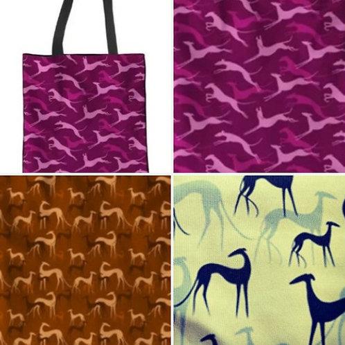 Tote Bag Greyhound Print (Click for Colour Range)