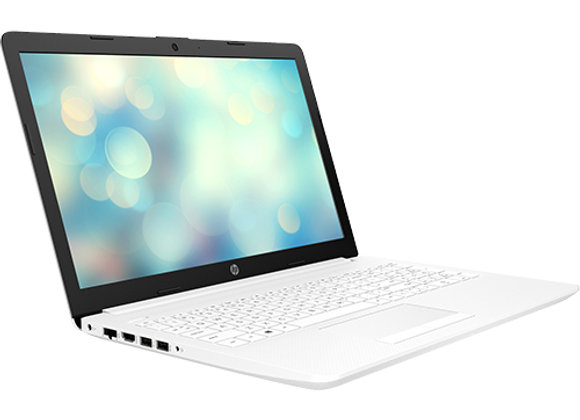 "מחשב נייד ""15.6 HP Notebook 15-DA1017NJ 6PC40EA i5-8265U בצבע לבן, כונן 256GB SS"