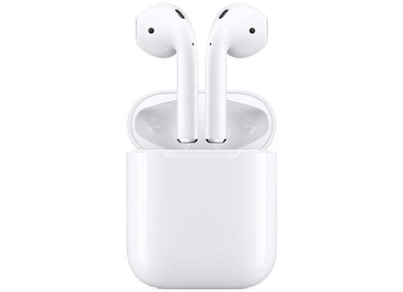 אוזניות אלחוטיות Apple New AirPods with Charging Case עם מיקרופון Bluetooth בצבע