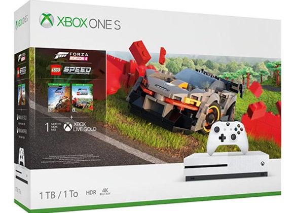 קונסולה Microsoft Xbox One S 1TB הכוללת משחק Forza Horizon 4
