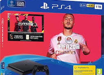 קונסולה Sony PlayStation 4 SLIM 1TB הכוללת שני בקרים משחק FIFA 20 ו- אחריות היבו