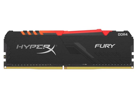 זכרון למחשב HyperX FURY DDR4 RGB 2666MHz 8GB HX426C16FB3A/8 DIMM