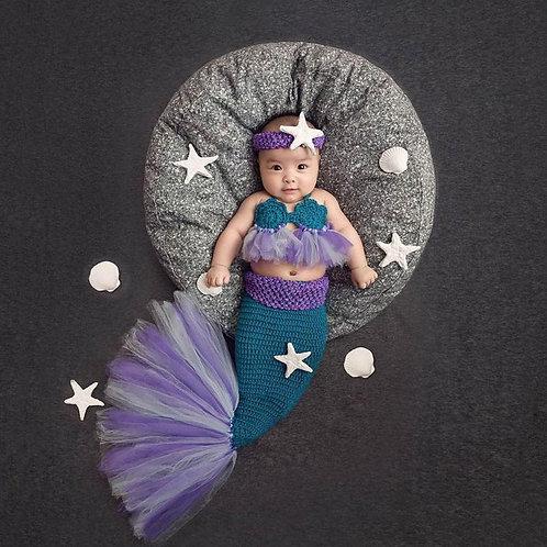 Newborn Prop - Conjunto de Sereia - PRAZO : ATÉ 90 DIAS ÚTEIS