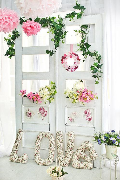 Fundo Fotográfico em Tecido Helanca Light - Floral Decoração