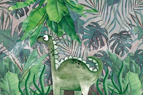 Fundo Fotográfico em Tecido Helanca Light -Dinossauro