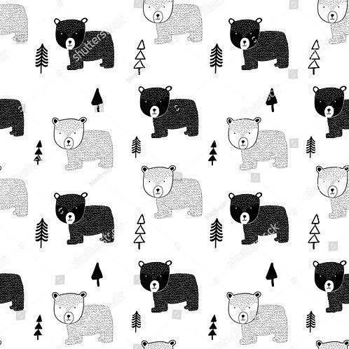 Fundo Fotográfico em Tecido Helanca Light - Urso